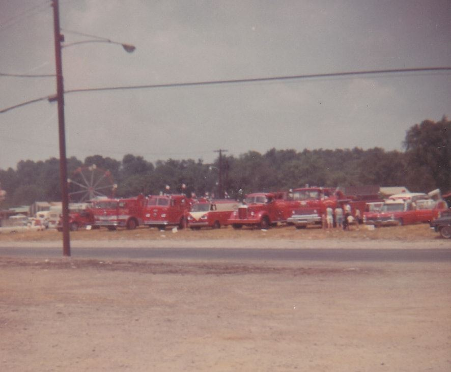 Loveland Fire Department vehicles lined up at fair