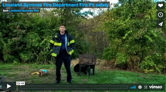 Video of Fire department fire pit safety