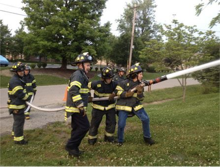 Citizens Fire Academy - Participants performing hose operations